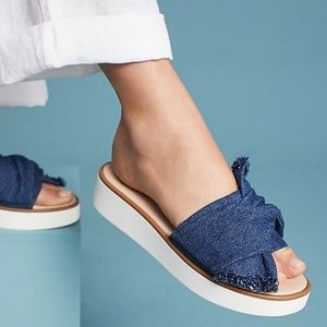 Seychelles Denim Coast Slide on Sandals 6.5